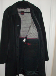 Size M -Mens Dress Coat with Zip Out Lining + 4 Mens Golf Shirts