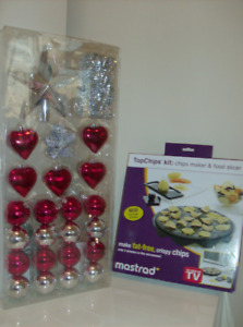 1/2 Price NEW Christmas Decorations + NEW Fat Free Chip Maker