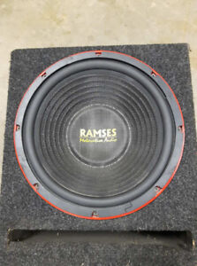 "12"" subwoofer, amplifier and box"