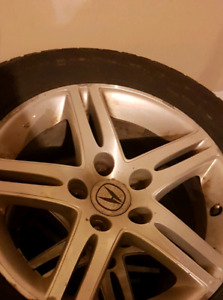 "OEM ACURA RSX RIMS 16"" WITH WINTER TIRES (70% tread)"