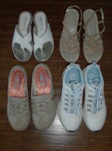 4 Pr Ladies Shoes - Geox, Naturalizer, Rockport, Skechers