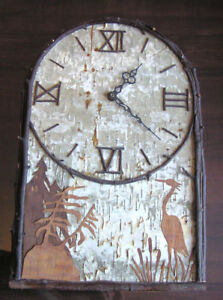 Rustic Birchbark and Twig Clock - Hand-crafted, one-of-a-kind
