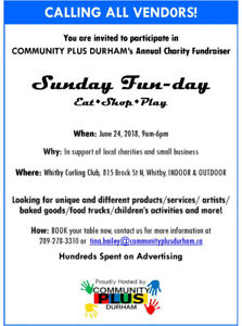Volunteers need for a Charity event for June 24, 2018