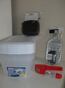 8 NEW Items - Craft Containers, GPS Case, Veg Shredder, Garlic P