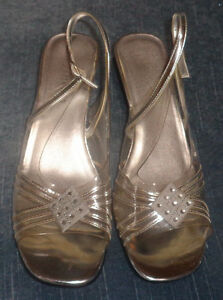 Woman's Silver Open Toe Dress Shoes Size: 9 Kawartha Lakes Peterborough Area image 2