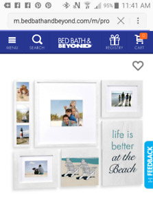 Coastal Picture Frame Collage