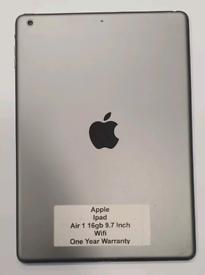 "Like New Used Apple Ipad Air 1 16gb 9.7"" Wifi 9.7 Inch"