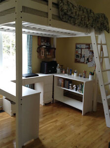 IKEA Bunk Bed with U-shaped desk