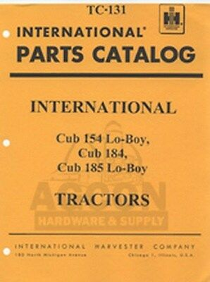 International Farmall Cub 154 184 185 Lo-boy Tractor Parts Catalog Manual