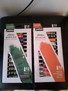 Gently Used Gouche and Acrylic Paint Sets