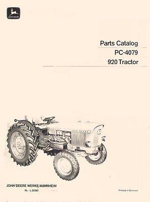 John Deere-parts Catalog-920 Tractor