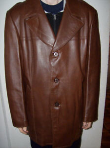 2 Men's X-large winter leather coats