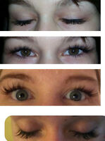 HAIR MAKE UP LASH EXTENSIONS AT YOUR HOME 50$!!