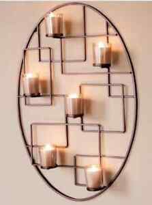 Bougeoir mural oval -Wall Votive Candle holder