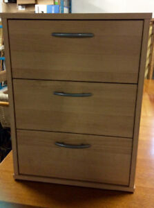 3 drawer cabinet office 16.5 w 16 d 213/4 h
