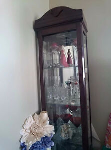 Cherry looking curio cabinet