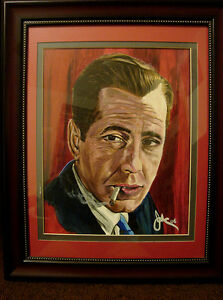 FOR SALE BY ARTIST 1 OF A KIND ORIGINAL HUMPHREY BOGART PAINTING