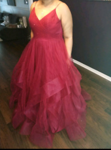 Teranni Couture Ruby Red Prom Dress