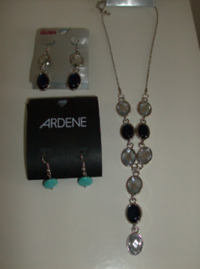 NEW 2 Pair Pierced Earrings & Necklace - Only $15 for all