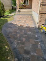 Interlock and landscaping