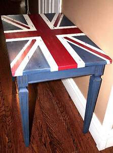 Hand Painted Solid Wood Union Jack Table