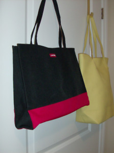 2 Tote Bags - New Lancome + Yellow Leather Like Tote