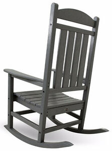 POLY-WOOD R100GY Presidential Rocker, Slate Grey Cambridge Kitchener Area image 3