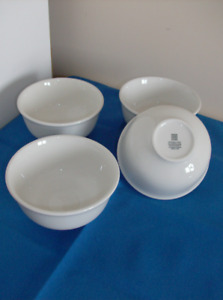 4 Steelite Soup Bowls 10 oz Restaurant Quality + Stainless Steel