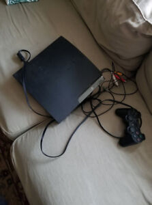 playstation 3 with 1 game 1 controller and all plugs