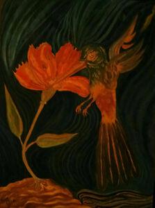 """ HUMMINGBIRD "" - HUMMINGBIRD COLLECTION PAINTING BY TONY RACO"