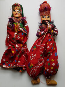 Indian marionettes, raja and rani
