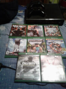 Xbox one 1TB 2 Controllers 8 games