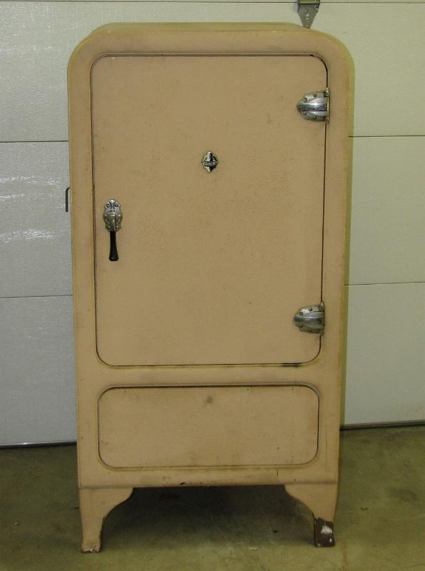 Antique 1930s Grunow Refrigerator - converted to a safe.
