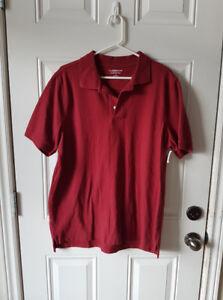 Mens Burgundy Lrg golf shirt BNWT