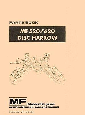 Massey Ferguson Mf 520 620 Disc Harrow Parts Manual