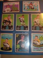 (8)  BOBBY ORR O-PEE-CHEE CARDS  FROM 1969-1972