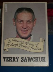 TERRY SAWCHUCK MEMORIAL CARD 1970-1971