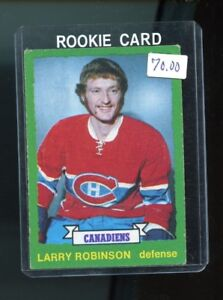 LARRY ROBINSON .... O-Pee-Chee .... ONLY ROOKIE CARD ... 1973-74
