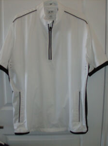 5 Men's Golf Shirts - Large  + New Travel Golf Bag  on wheels