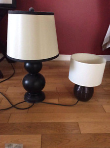 Table lamps gently used