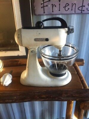 antique kitchenaid standup mixer circa 1941  Model A3 WithJuicer WorksNeed Cord