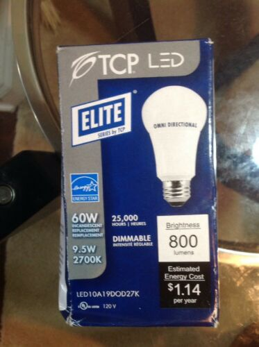 TCP 60W Soft White 2700K Smart LED Light Bulb 800 Lumens Omn
