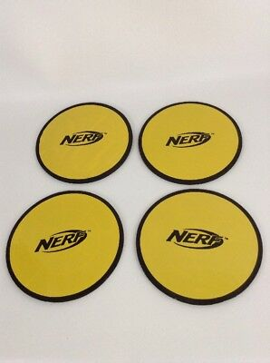 Nerf Skeet Shooter Soft Foam Disc Targets Replacement Lot of 4 Pieces Parts  - Foam Disc Shooter