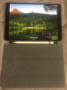 "10.5"" 256GB Space Grey iPad Pro w/ AppleCare, Pencil, SmartCover"