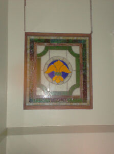 Stained Glass Art -- Antique Piece