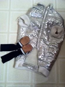 XL FAUX SHEEPSKIN LINED WINTER COAT AND BOOTS FOR DOGS