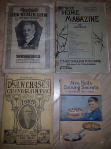 Antique Remedies Cookbooks Turn of the Century Lot of