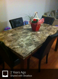 Marble Slab Dining Table