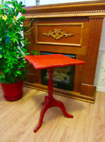 Red BOMBAY coffee side table living room plants bedroom