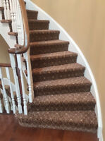 Specialize in carpet installs and re-stretches.